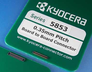 """照片:0.35mm窄间距板对板连接器""""5853系列"""""""