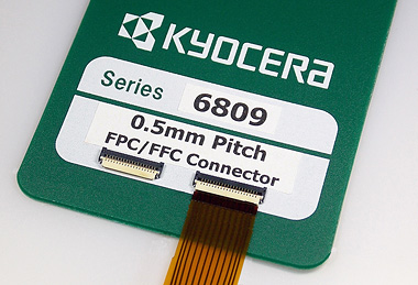 """照片:京瓷开发出0.5mm间距FPC/FFC连接器""""6809系列"""""""