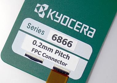照片:0. 2mm间距 FPC连接器6866系列